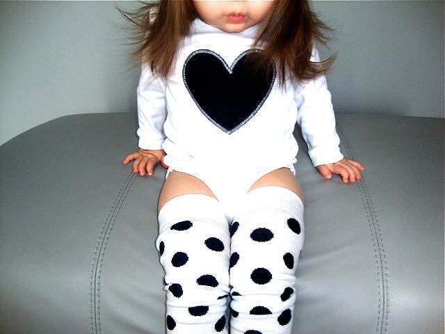 Black Heart One-Piece and Leggings