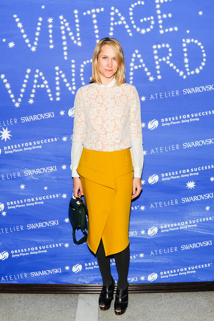 Indre Rockefeller at the Vintage Vanguard benefit.