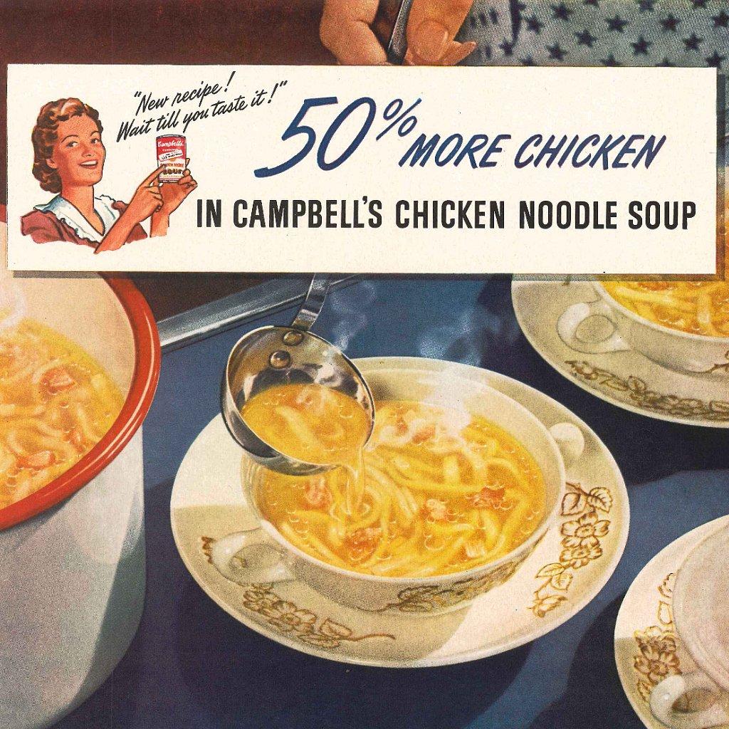 Campbell s chicken noodle soup vintage ads popsugar food
