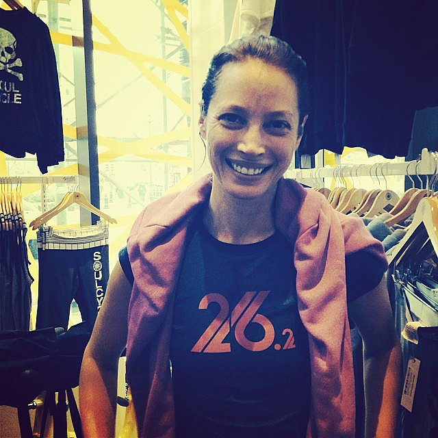 Christy Turlington showed off her chic running gear. Source: Instagram user cturlington