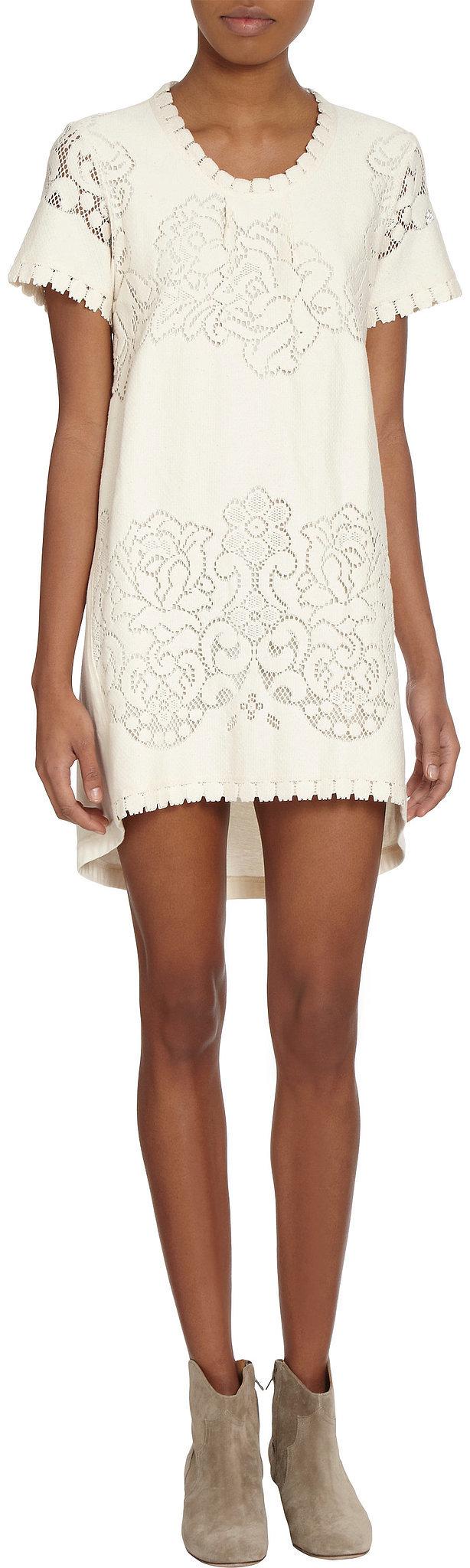 Sea Lace Front White Dress