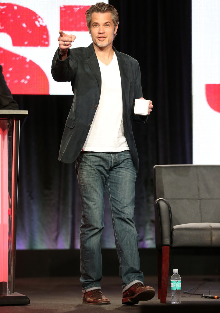 Justified star Timothy Olyphant had fun with the critics.