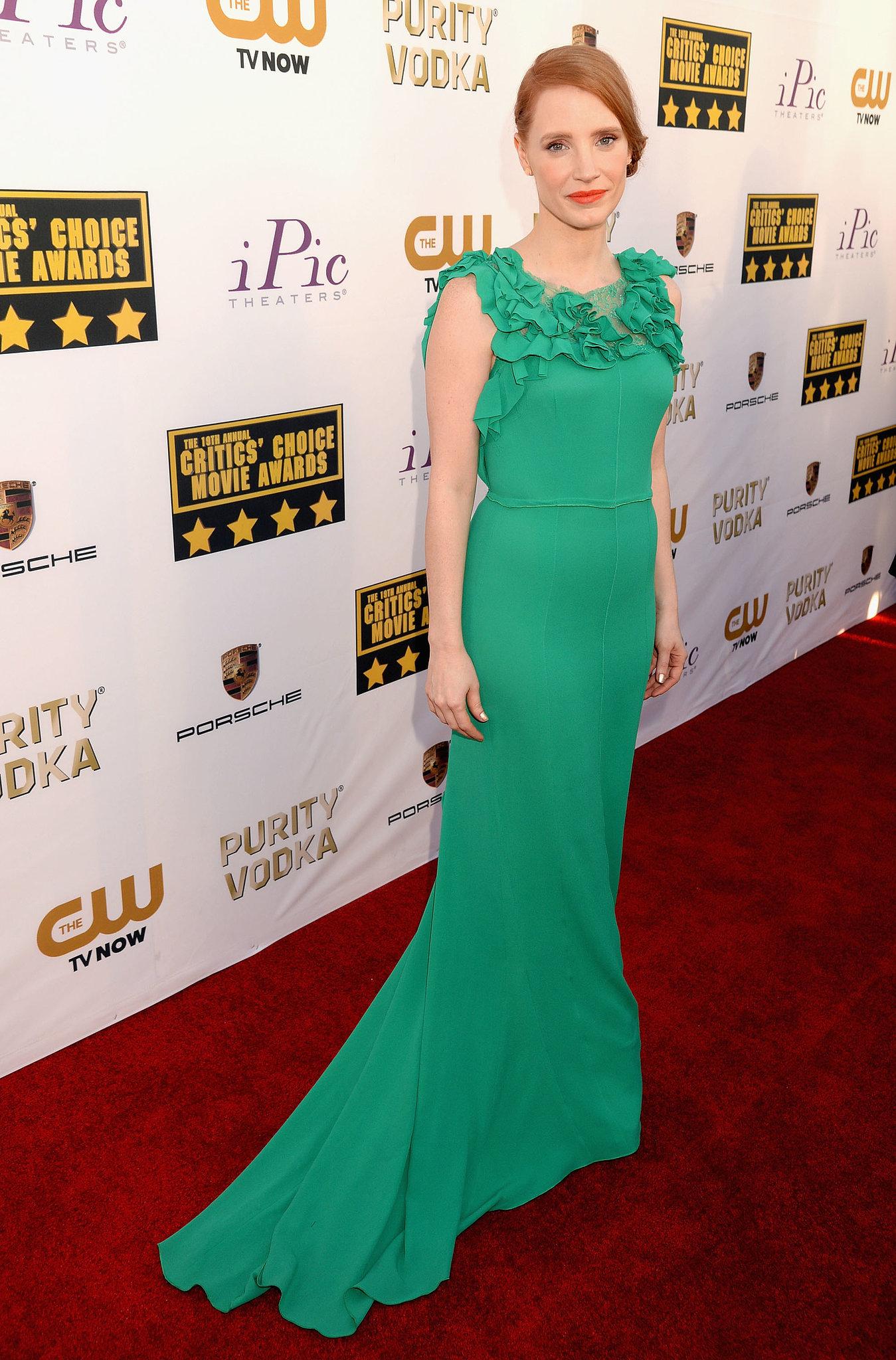 Jessica Chastain at the Critics' Choice Awards 2014