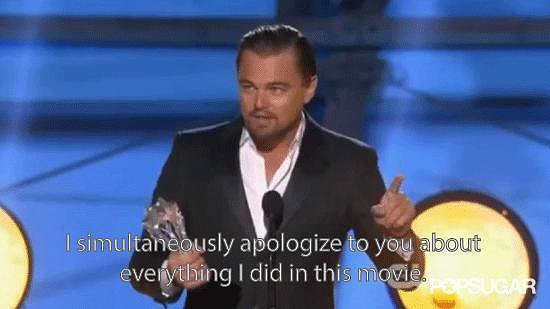 Leonardo DiCaprio Thanked His Parents . . . and Apologized