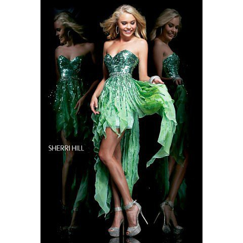 Sherri Hill 1922 Green Prom Dress