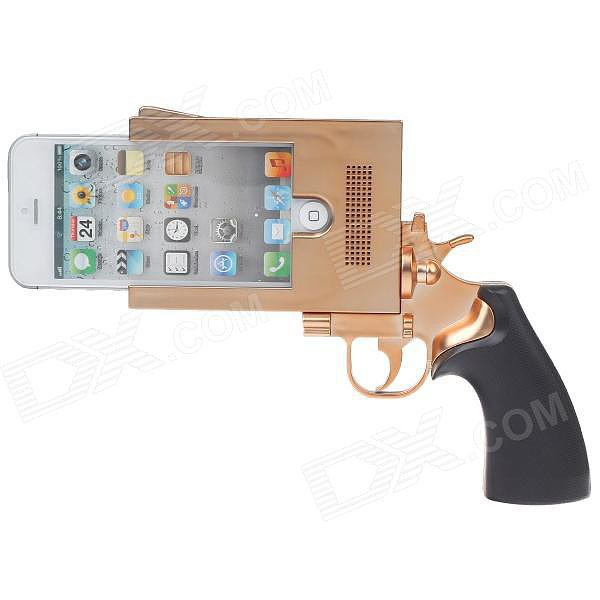Nothing like whipping out a pistol-style case ($17) from your purse and waiting for all the reactions.