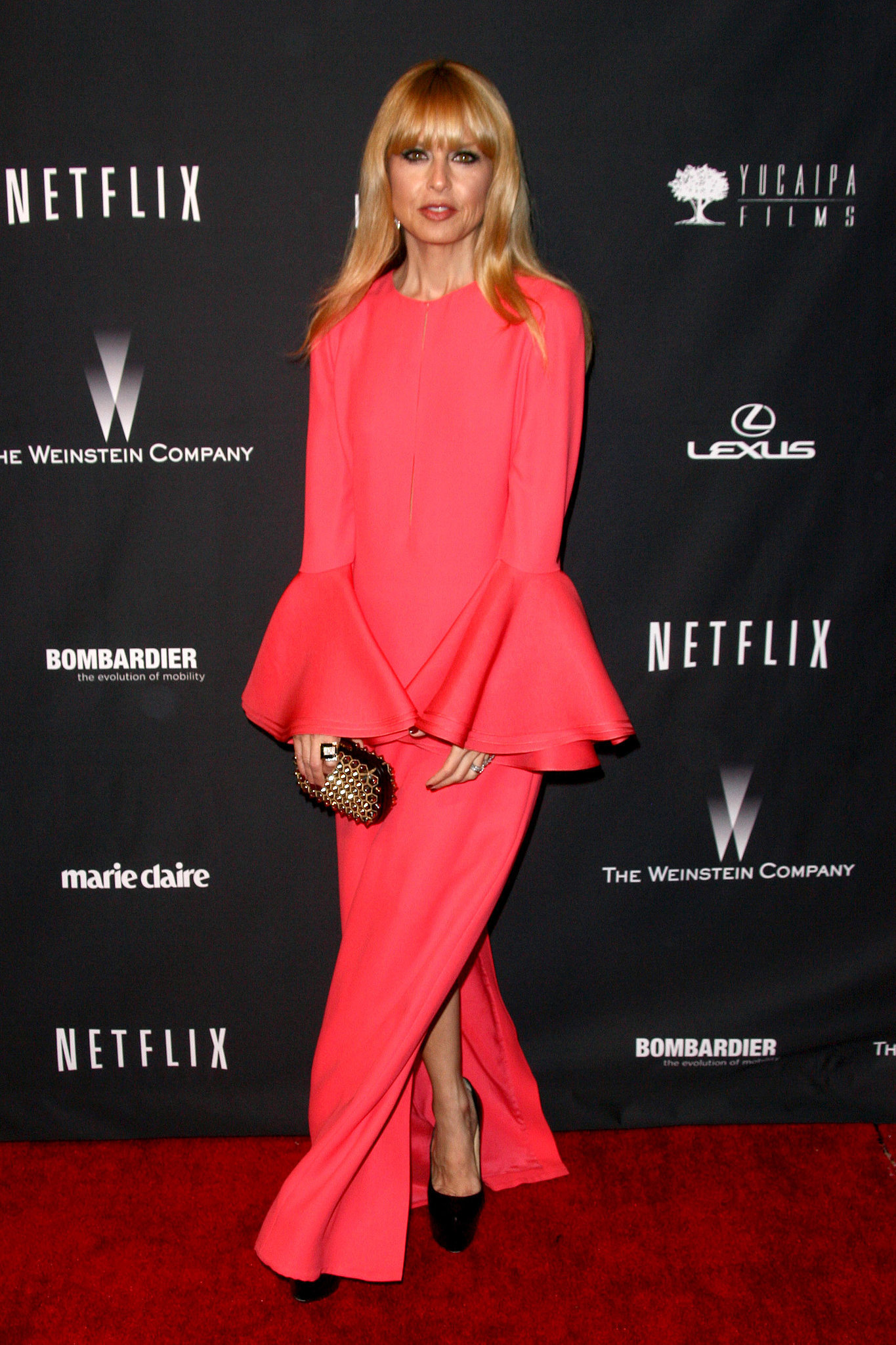Rachel Zoe's bright, voluminous 2014 Golden Globes dress will have heads turning. Where to Wear: A night of creativity and culture at the hottest art gallery.