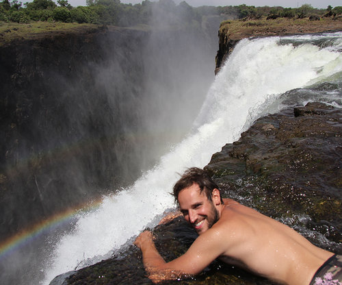 Swim in Devil's Pool in Africa