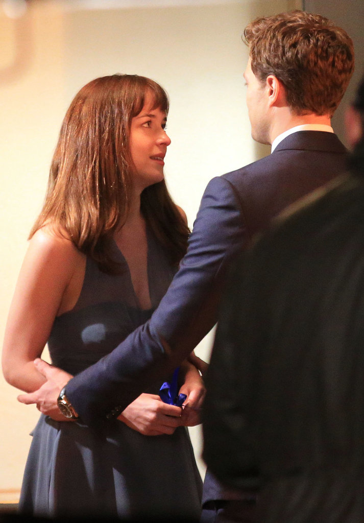 Johnson looked concerned with Dornan.