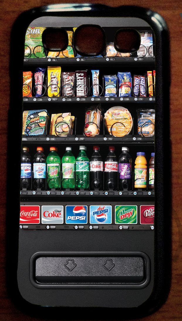 This Galaxy and iPhone vending machine case ($15) might as well be an ode to snacks everywhere.