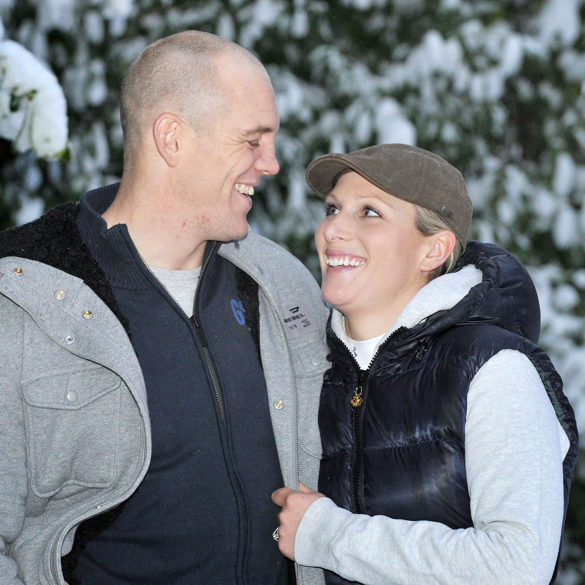 Zara and Mike announced their engagement with a casual photocall in 2011.