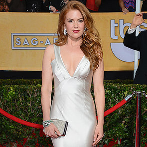 Celebrity Style: Isla Fisher Silver Dress At 2014 SAG Awards