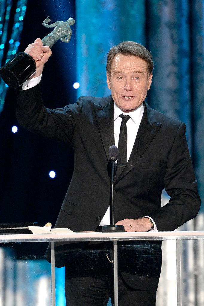 Bryan Cranston took the podium after he won for his performance in Breaking Bad.