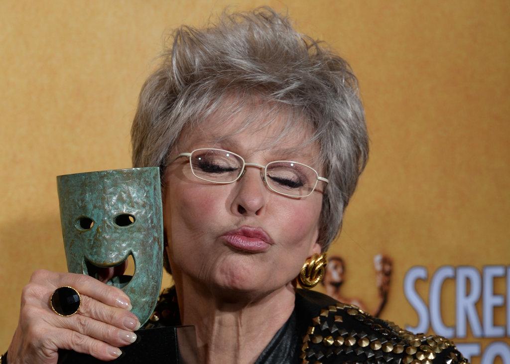 Rita Moreno got playful with her lifetime achievement award.