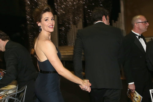 Jennifer Garner held onto Ben Affleck's hand inside the auditorium during the SAG Awards.