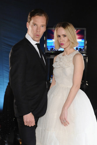 Benedict Cumberbatch made funny faces with Sarah Paulson backstage at the SAGs.