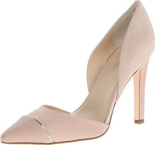 Amazon.com: Calvin Klein Women's Belle Nubuck/Mt Snake D'Orsay Pump: Shoes