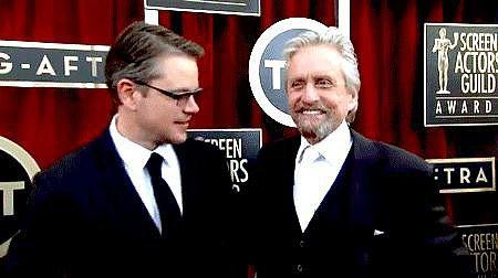21. Michael Douglas Jokes About Playing Matt Damon's Lover