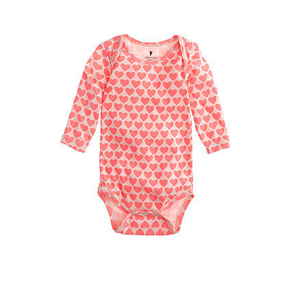 J.Crew Baby Heart-Print One-Piece