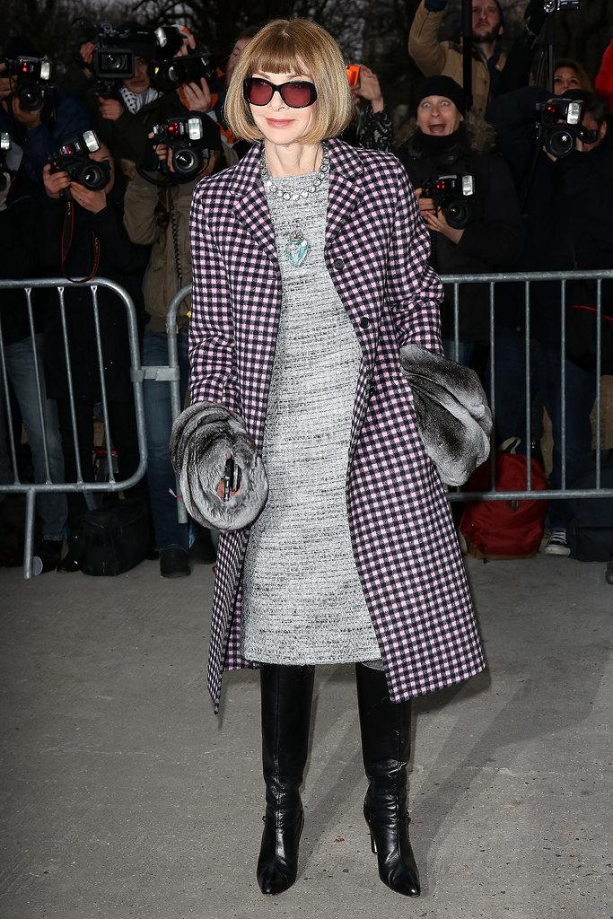 Anna Wintour at the Armani Privé Paris Haute Couture show.