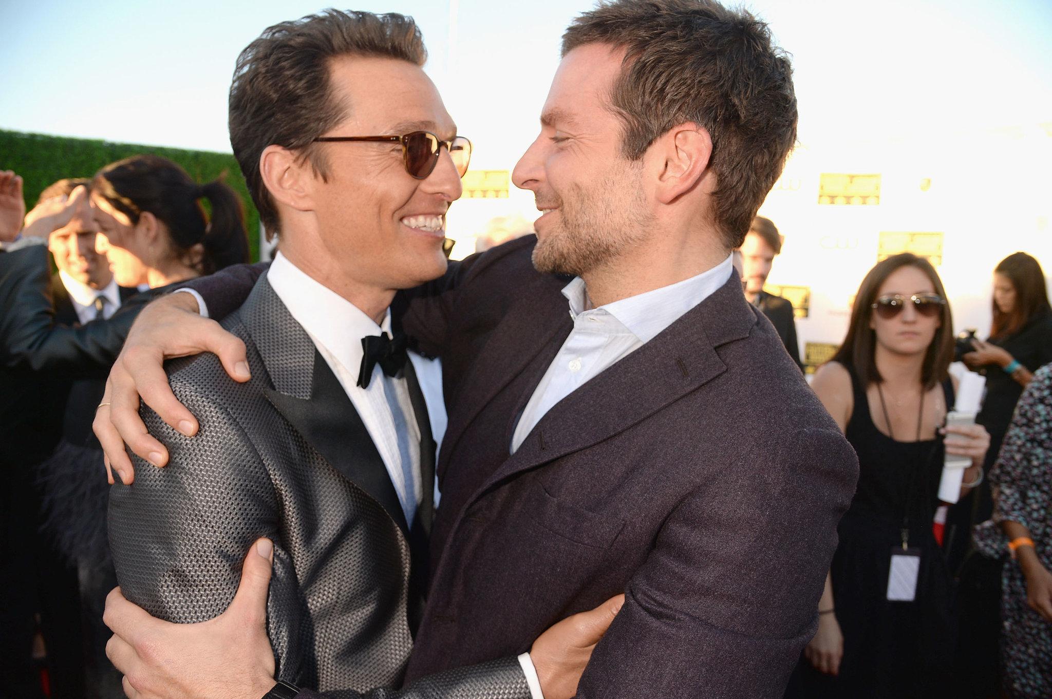 Bradley and Matthew Had an Amazing Critics' Choice Awards Embrace