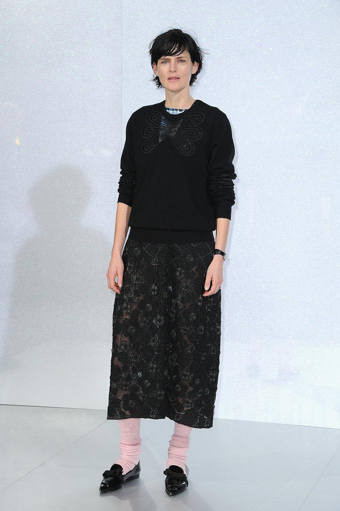 Stella Tennant at the Chanel Paris Haute Couture show.