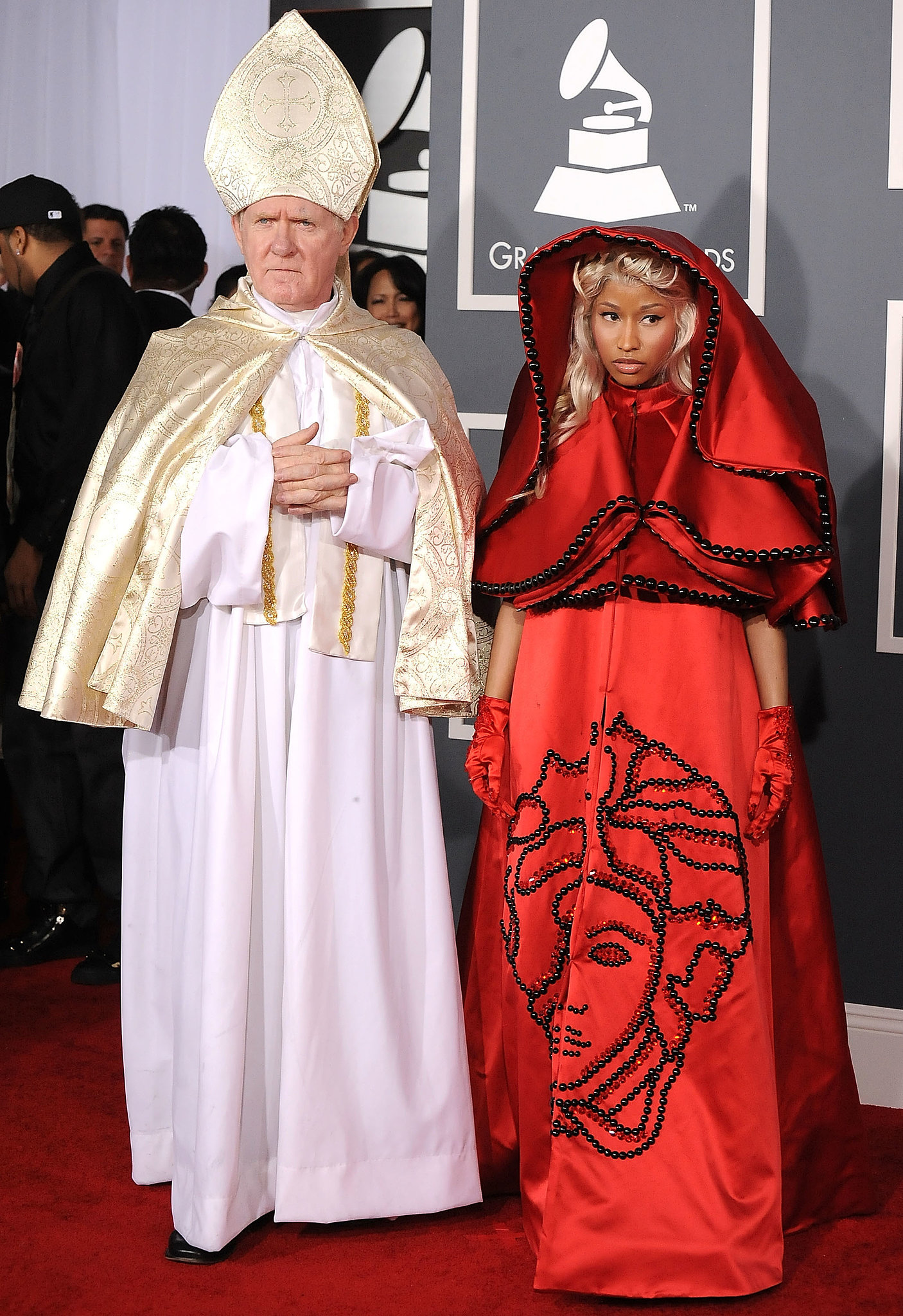 Nicki Minaj made a statement with her daring 2012 red carpet arrival.