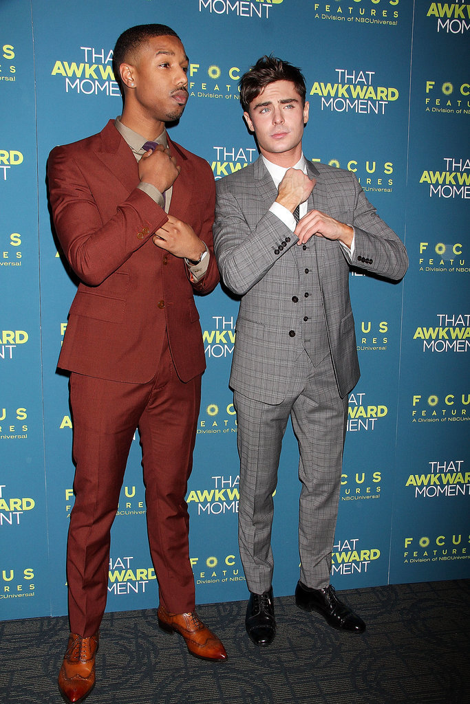 Zac and Michael had a fun time copying each other on the carpet.