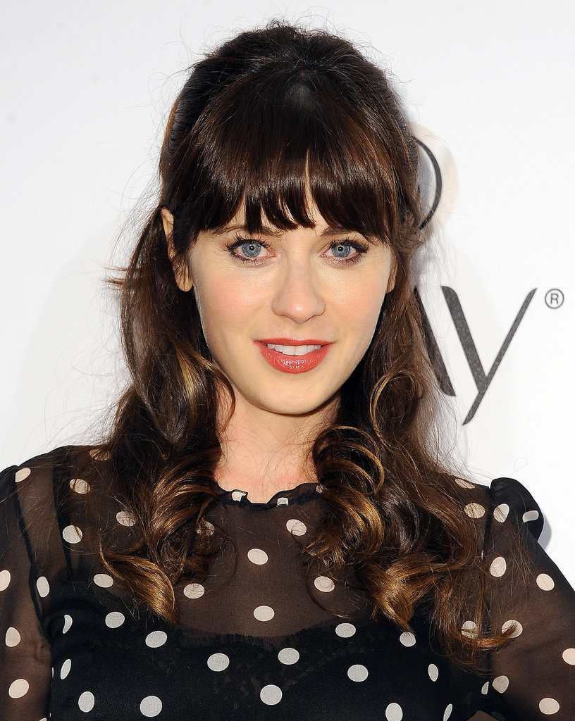 Zooey Deschanel Pink Lips And Updos Reign Supreme On Tv