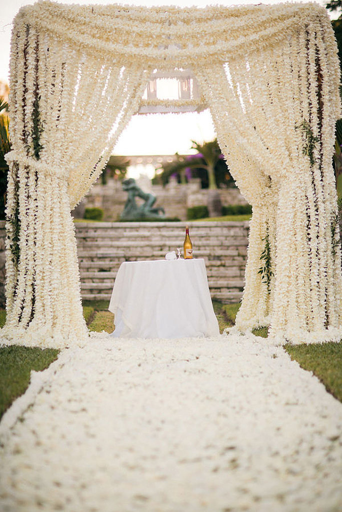 Unique wedding altar ideas and pictures popsugar home for Outdoor wedding decoration ideas