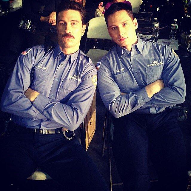 Schreiber and Matt McGorry hang tough. Source: Instagram user oitnb