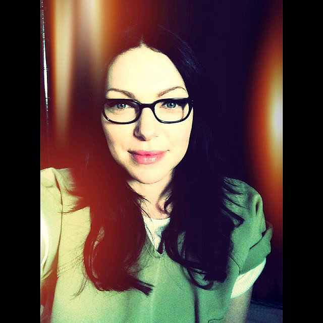 Laura Prepon, who will appear in four episodes of the new season, takes a glamour shot. Source: Instagram user oitnb