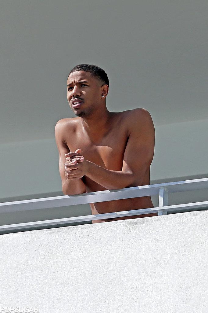 Michael B. Jordan's Muscles Soak Up the Sun