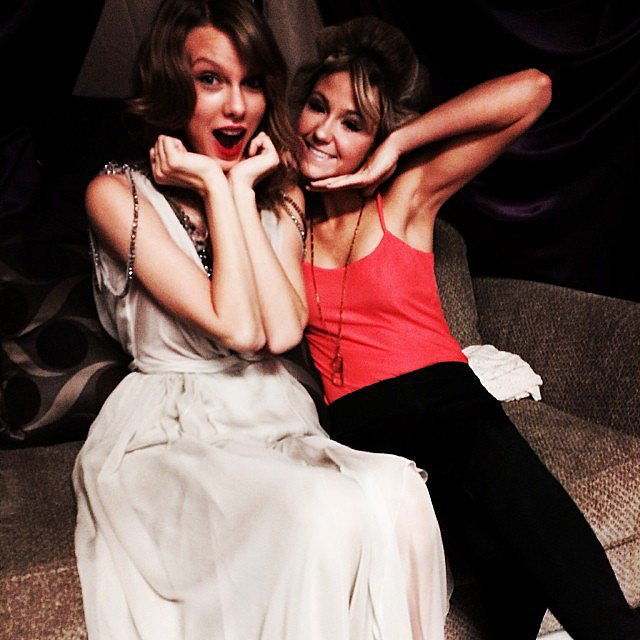 "Taylor Swift posted a picture ahead of the show, writing, ""Backstage and excited."" Source: Instagram user taylorswift"