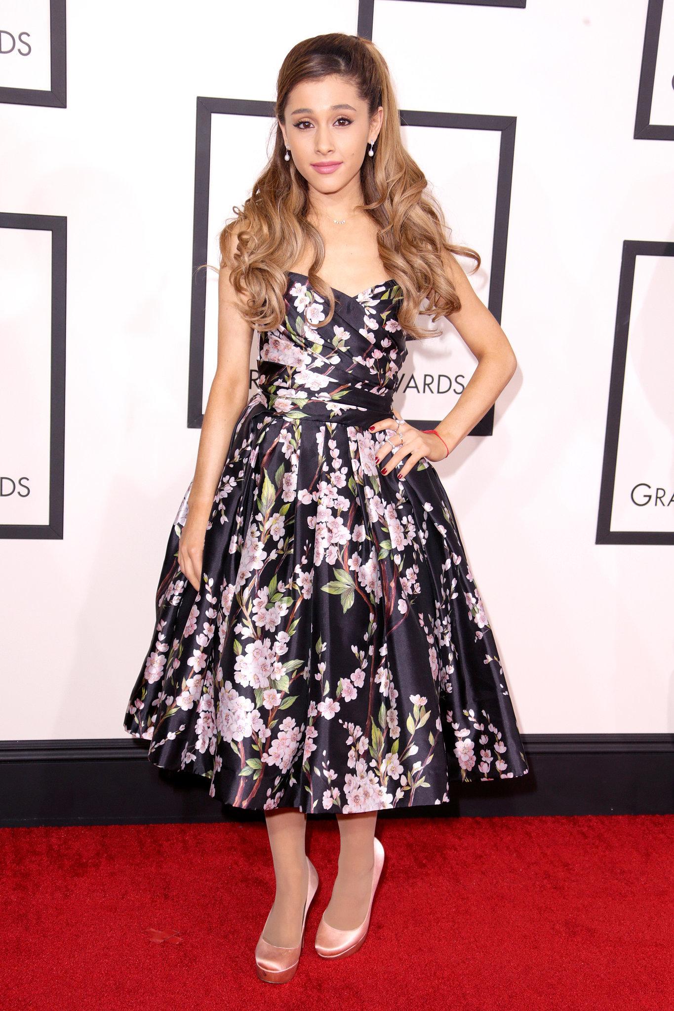 Ariana Grande at the Grammys 2014