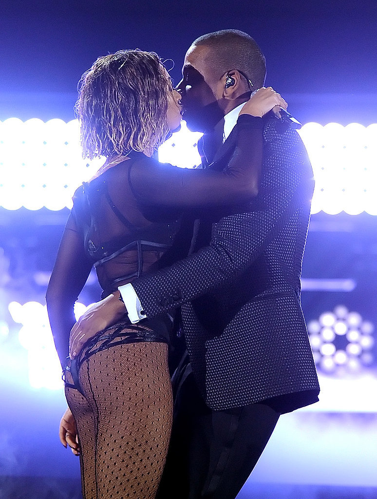 """They shared a smooch after a steamy performance of """"Drunk in Love"""" at the Grammys in January 2014."""