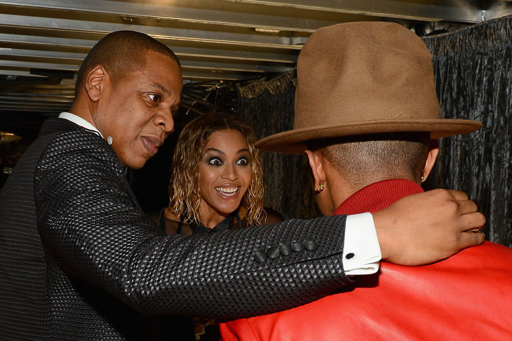 Jay Z and Beyoncé got excited about Pharrell...and his hat!