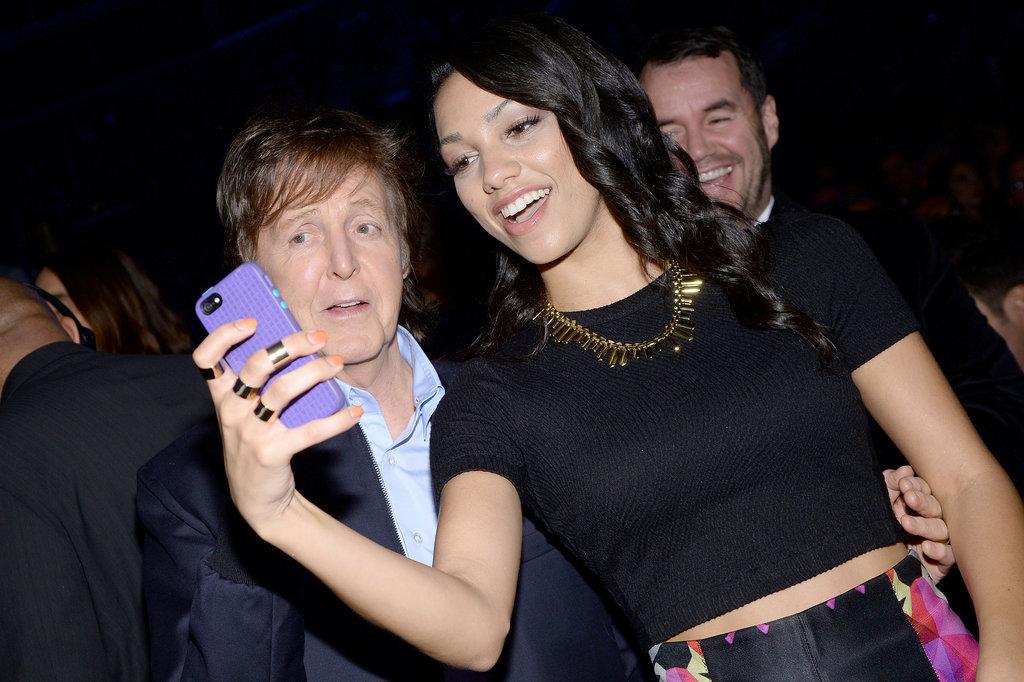 Jamie Foxx's daughter Corinne took a selfie with Paul McCartney.