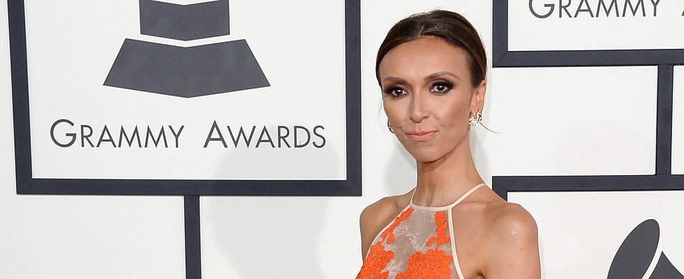2014 Grammy Awards: Giuliana Rancic in Alex Perry
