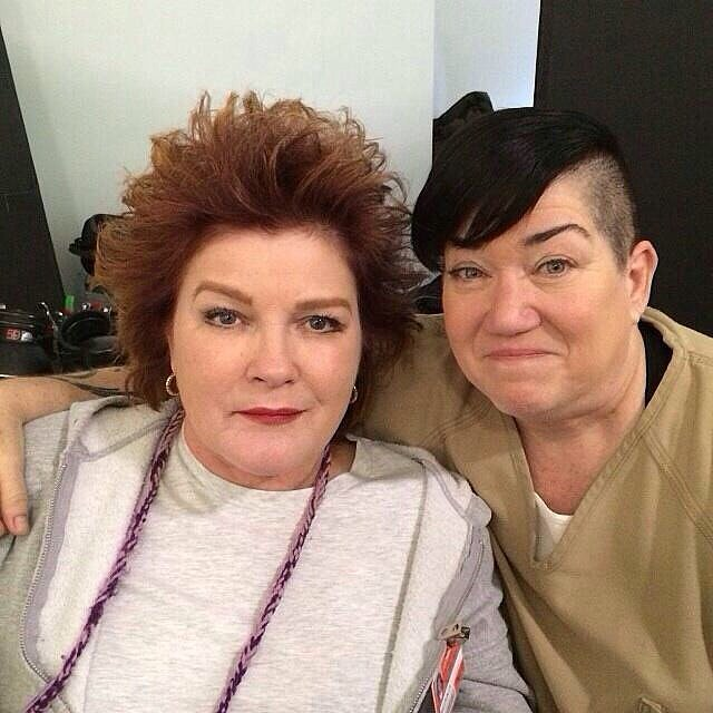 Photo of Kate Mulgrew & her friend comedian  Lea DeLaria  - Cast of Orange is the New Black