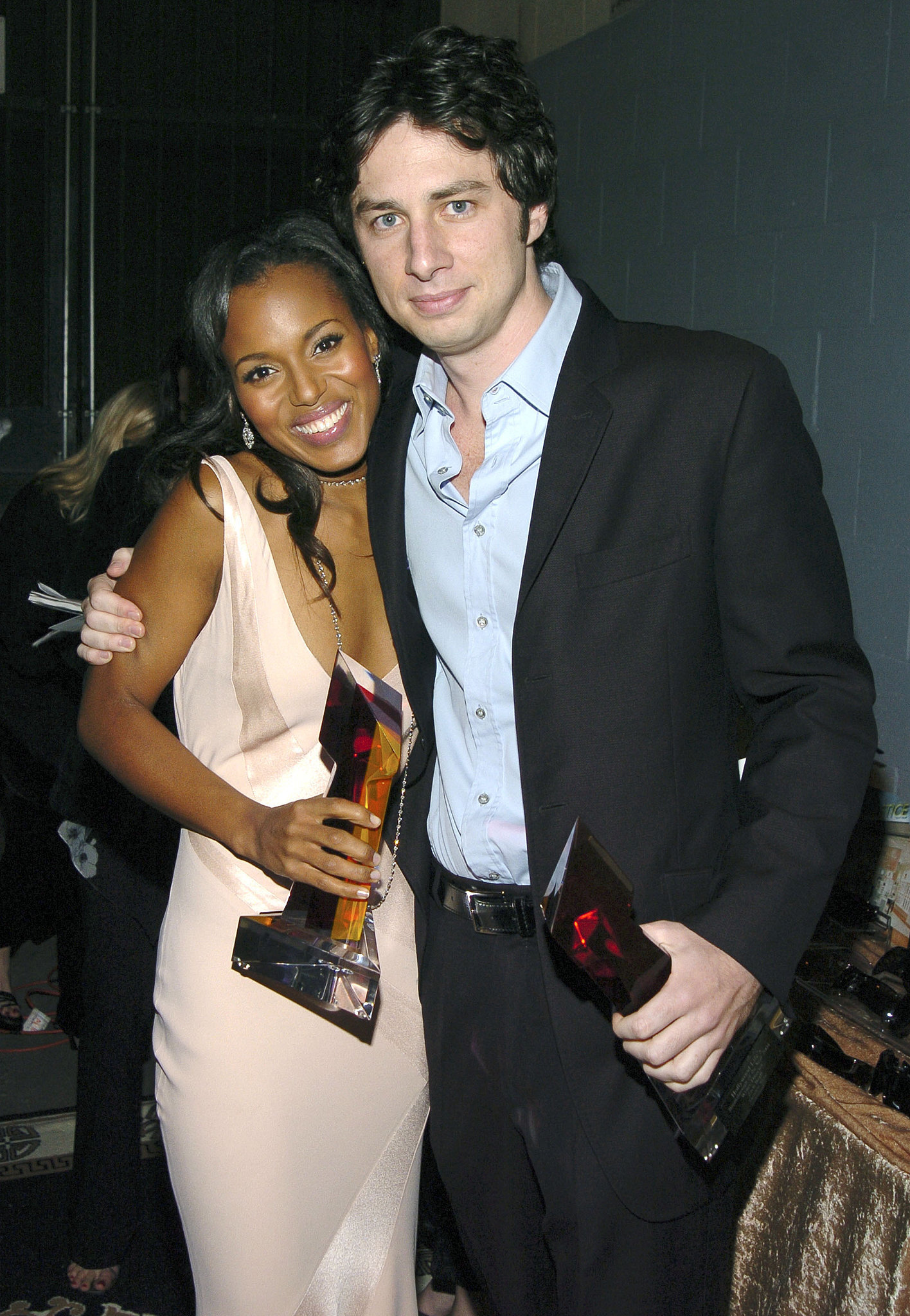 She Gets Cozy With Zach Braff and Their Awards