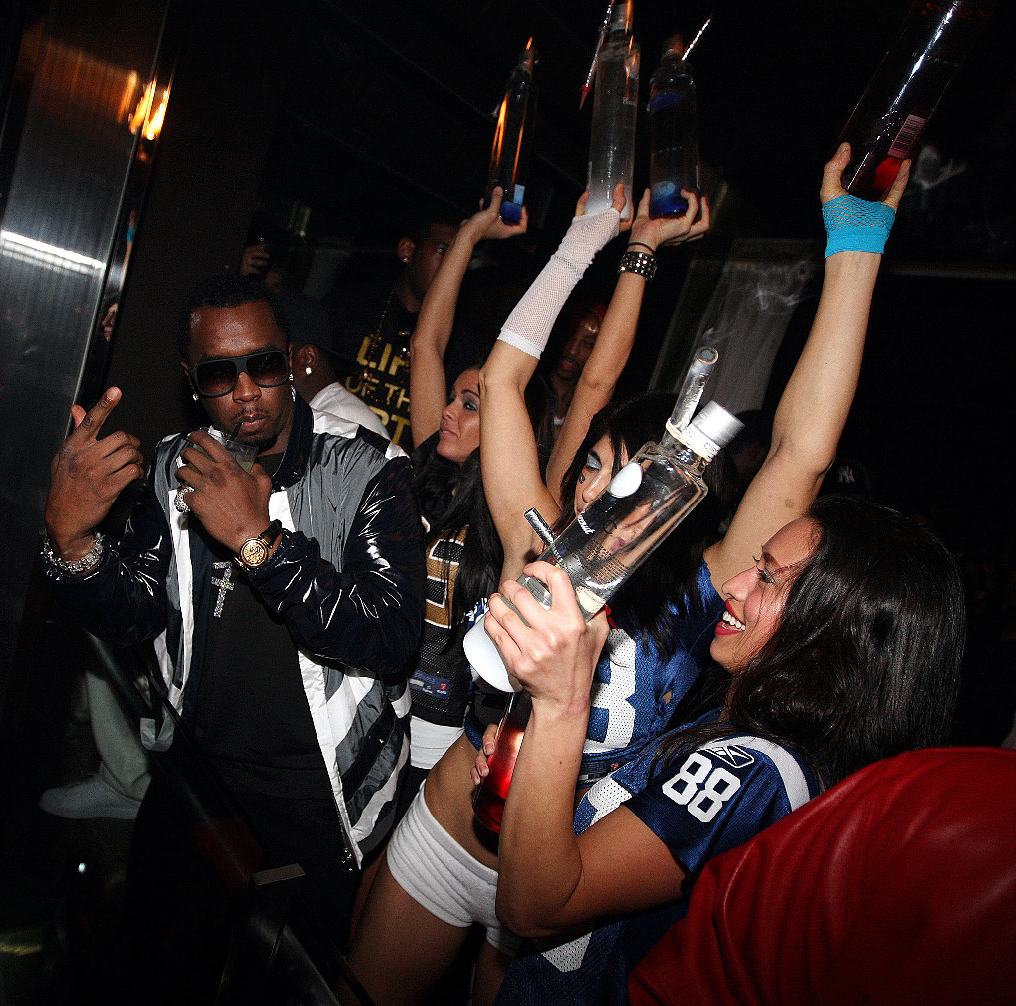 P. Diddy proved nobody throws a party like he does at the Axe Lounge in Miami after the Super Bowl in 2010.