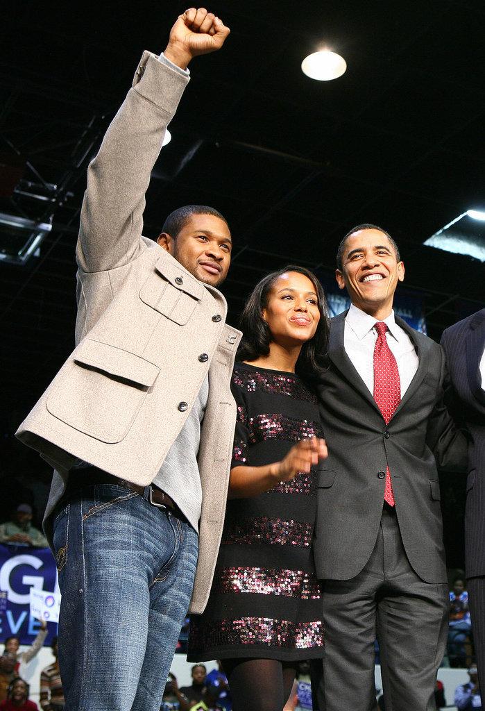 She Gets Between Barack Obama and Usher