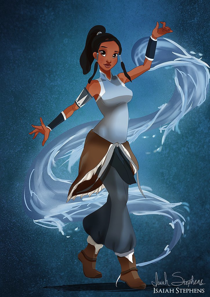 Tiana as Korra