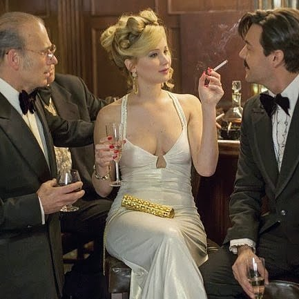 Jennifer Lawrence Stained American Hustle Dress With Doritos