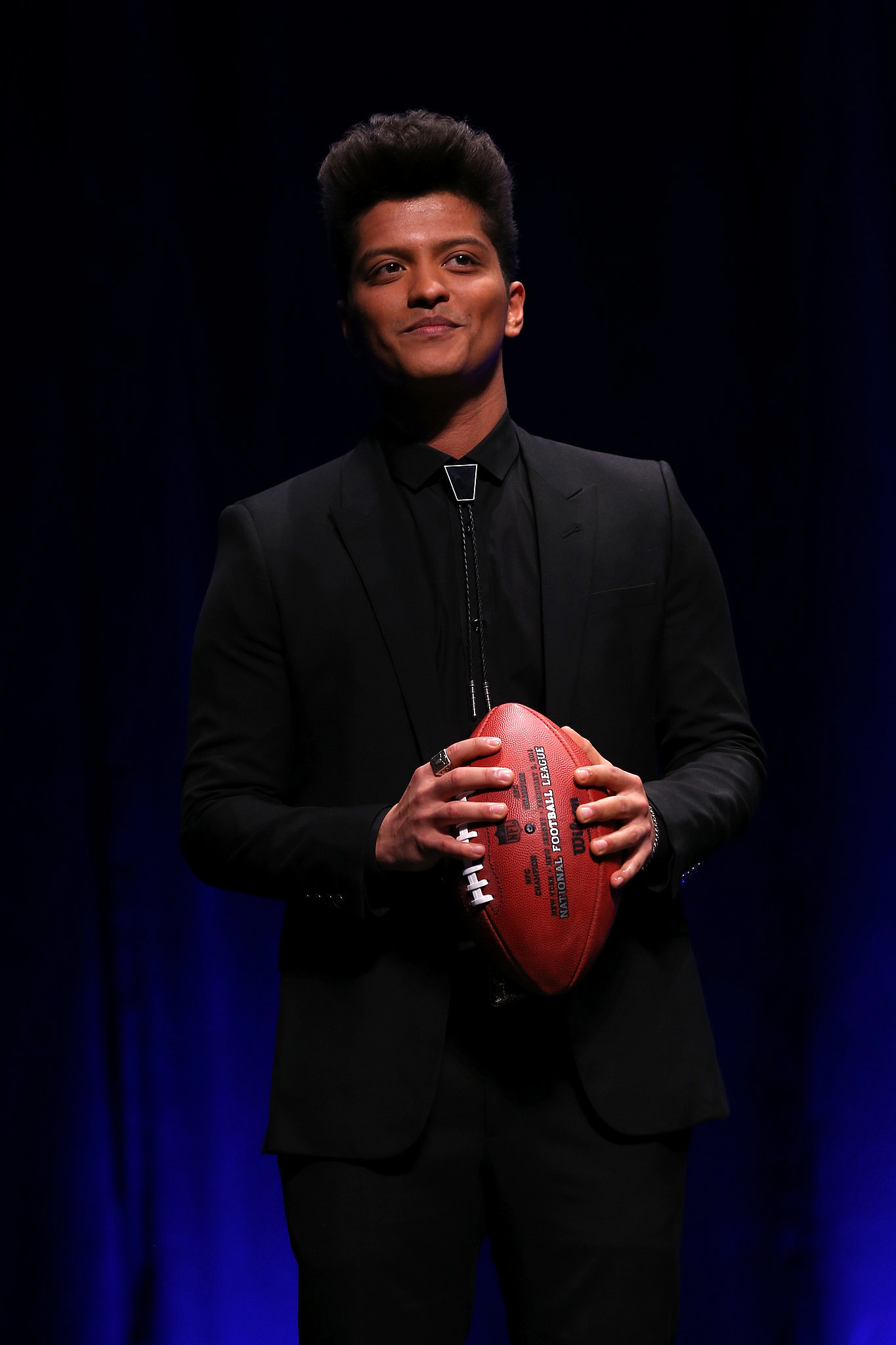 Bruno Mars did a press conference for his Super Bowl performance on Thursday.