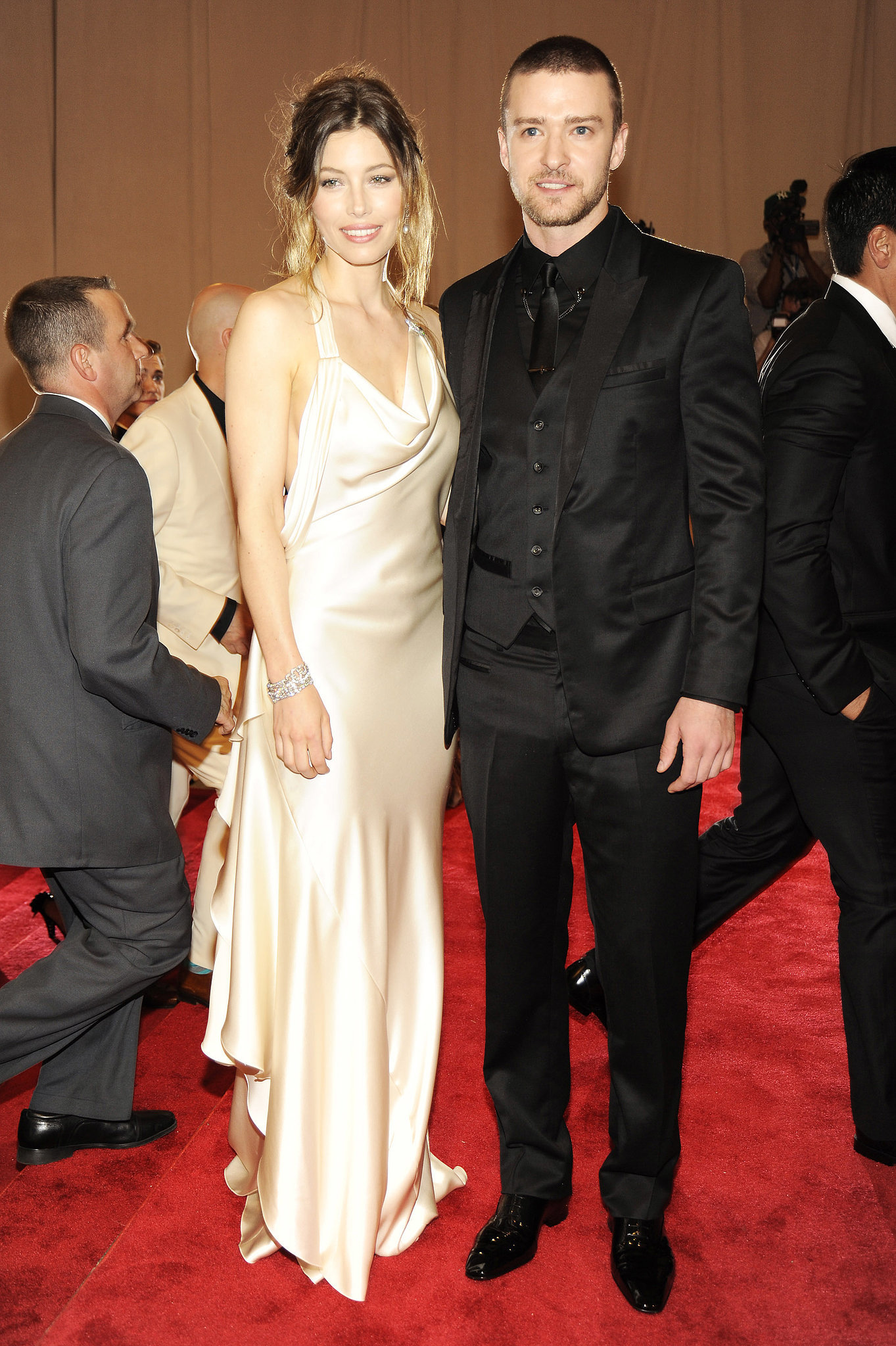Justin attended the 2010 Met Gala with Jessica Biel in a black three-piece suit.