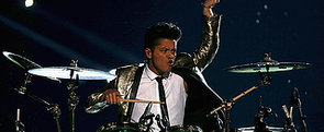 Bruno Mars Playing the Drums at Super Bowl = Hot