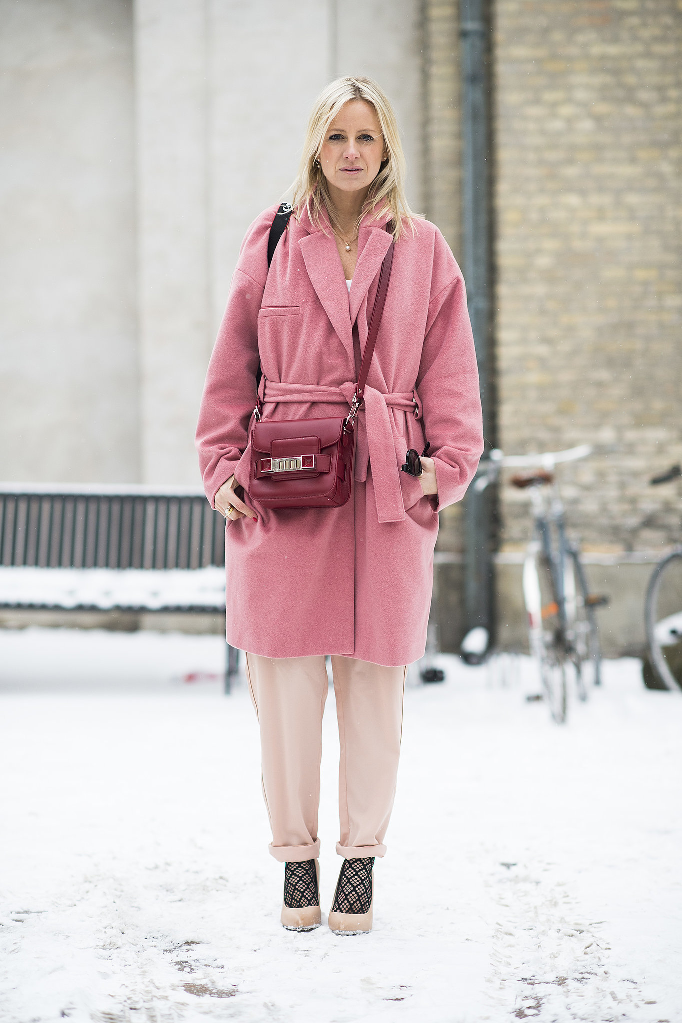 Tone-on-tone color play made this combo a standout.  Source: Le 21ème   Adam Katz Sinding