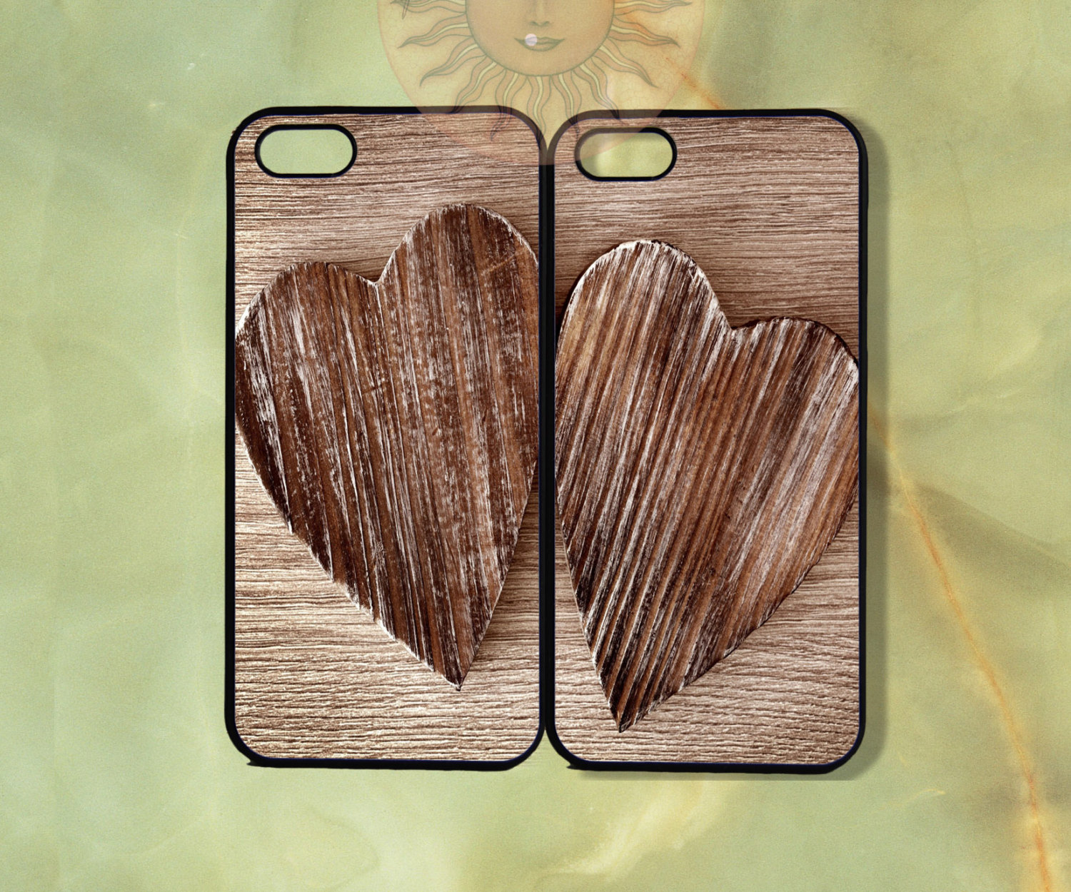 Wooden hearts case ($29) for iPhone and Samsung Galaxy models